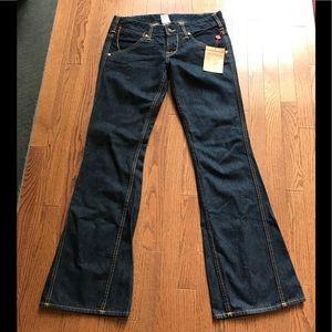 NWT True Religion Sydney Flare Dark Flare Jeans 31
